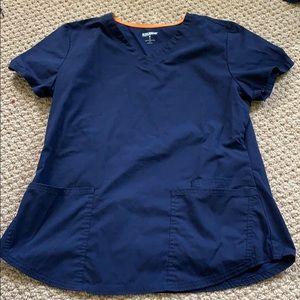 Navy Blue Scrub Shirt Size Medium